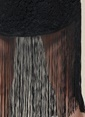 Agenda Püsküllü Dantel Elbise Siyah
